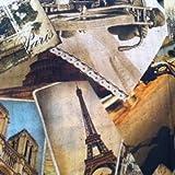 Dekostoff Meterware Digitaldruck - Stadt Paris - 140 cm breit