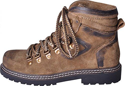 Almwerk Damen Trachten Bergschuh Wanderschuh verschiedene Farben, Schuhgröße:EU 40 - US 7.5 - Fußlänge 25.4;Farbe:Hellbraun