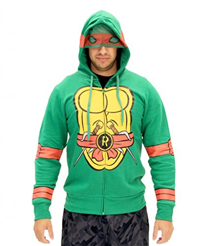 Teenage Mutant Ninja Turtles I Am Raphael Kostüm Zip Hoodie (Teenage Ninja Mutant Kostüme Turtles Hoodie)