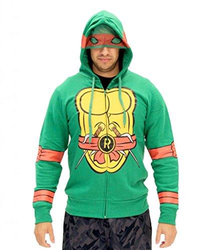 Kostüm Ninja Turtle Hoodie - Teenage Mutant Ninja Turtles I Am Raphael Kostüm Zip Hoodie (Small)