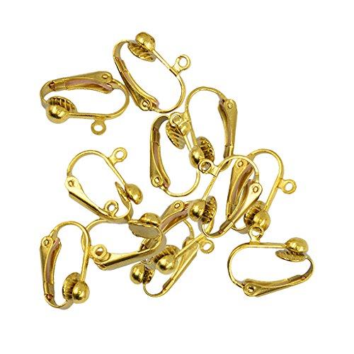 Homyl 12 Stück Clip auf Nicht Durchbohrt Hoops Kreis Ohrringe Piercing Schmuck Kit (Anhänger-konverter-kit)