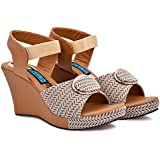 Maeve & Shelby Sandals for Girls Women Stylish Wedges High Heel Casual Trendy daily office wear Comfortable.