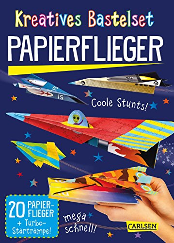 Kreatives Bastelset: Papierflieger: Set mit 20 Faltbögen, Anleitungsbuch und Falzhilfe: Falten für Kinder