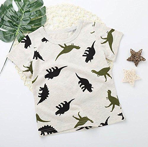 Yncc Kinder Infant Kid Jungen Cartoon Dinosaurier Print Pocket T-Shirt Tops Shirts T (110)