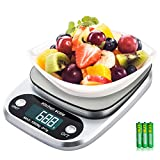 Diyife Digital Kitchen Scale, 22lb/10kg Electronic Cooking Food Scale with LCD Display Stainless