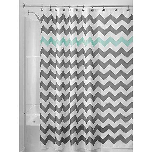 Chrasy Duschvorhang aus Stoff Wasserdichter Duschvorhang Anti-bakterieller Textil Duschvorhang in der Größe 180 cm x 180 cm Polyester (Grün) (Jalousien Klammern Holz)