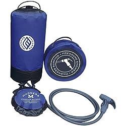 Madness Locura Unisex presión 10–15L portátil Ducha, Talla única, Color Azul