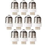 GreenSun Lampensockel Adapter Lampenfassung Konverter E27 Fassung auf G9 Lampensockel für LED Halogen Energiespar Lampen 10 Stück