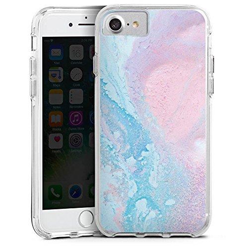 Apple iPhone X Bumper Hülle Bumper Case Glitzer Hülle Pastell Muster Grunge Bumper Case transparent