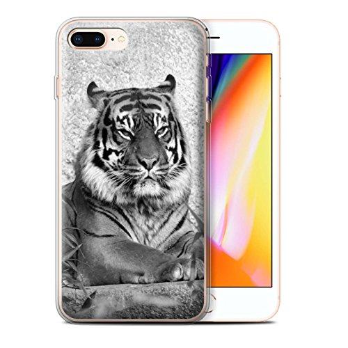 Coque Gel TPU de STUFF4 / Coque pour Apple iPhone 7 / Lion Design / Animaux de zoo Collection Tigre