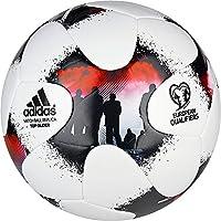 Adidas Europeanqgli Balón de Fútbol, Hombre, (Blanco/Rojsol / Negro), 5