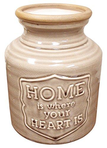 stealstreet Home is where the heart is Deko Vase Blumenvase, hellbraun Ewer-vase