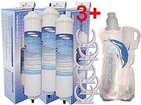 externer Wasserfilter für Kühlschrank SBS, Kompatibler Ersatzfilter für Samsung, LG, Daewoo GE, Bosch, Beko, WSF-100, DA29-10105J. Universaler Kühlschrankfilter +Gratis.(3)