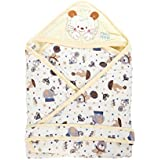 Mee Mee Baby Wrapper With Hood, Circus Print, Yellow