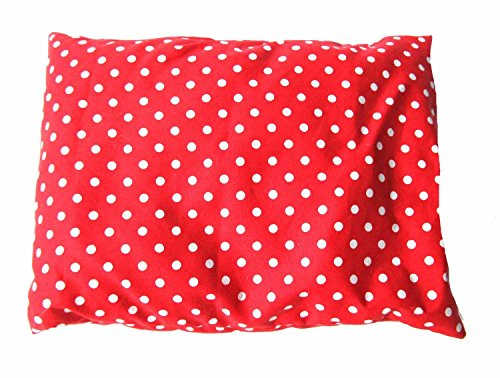 Miniblings Kräuterkissen Schlafkissen Erkältung 25x20cm rot Punkte Polka Dots