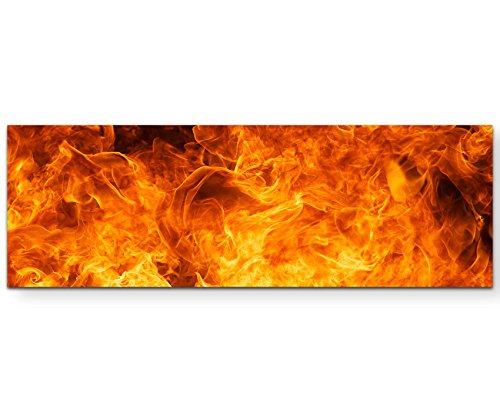 Paul Sinus Art Leinwandbilder | Bilder Leinwand 120x40cm flammendes Inferno Feuer
