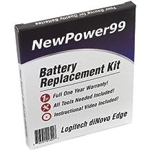 Kit de Reemplazo de la Batería para el Logitech DiNovo Edge Keyboard con Video de Instalación, Herramientas y Batería de Larga Duración