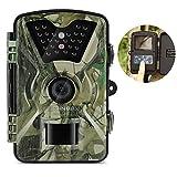 ZANMAX Wildkamera Trail Kamera, 12MP 1080P Infrarot Spiel Kamera Jagd Kamera mit IR LEDs Nachtsicht Wasserdichte Design LCD Display für Home Security Surveillance Wildlife Scouting