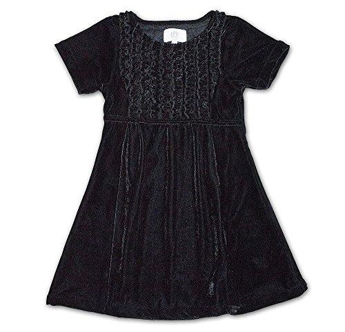 Mädchen Kleid (116, Schwarz) (Mädchen-schwarz-samt-kleid)