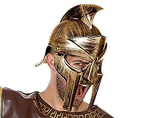Atosa-58329 Casco Gladiador Romano, Color Dorado (58329)