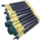 15pcs Pinceaux à maquillage Professionnel ensembles de brosses/Pinceau à Blush/Pinceau Fard à Paupières Poil Synthétique Economique/Doux/Couvrant Bois