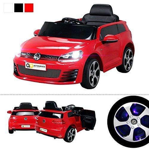 Infantil Coche eléctrico VW Golf GTI Licencia Original Coche niños Vehiculo infantil Electro Auto Juguete Para Niños - Rojo