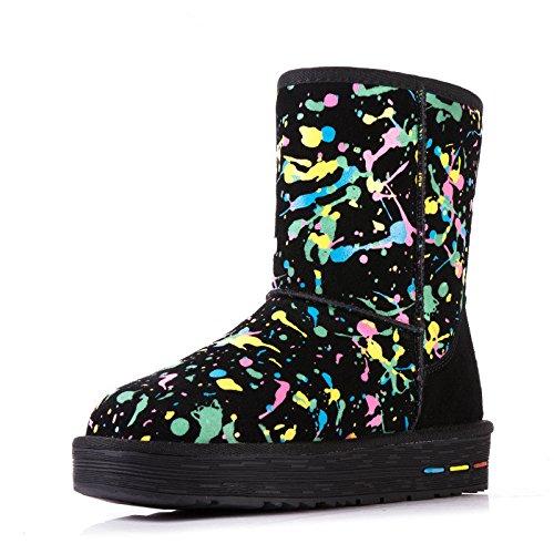Bottes de neige chaudes antidérapant dans la fin de chaussures Chaussures en coton épais imprimé