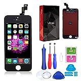ukuu Pantallas Táctil LCD Reemplazo de Pantalla para iPhone 5S / SE con Herramientas,Color Negro