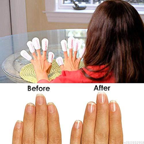 auspilybiber Toallitas removedoras de Esmalte de uñas, Cubierta de Limpiador de uñas para Reparar uñas, púas y Grietas Cool