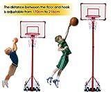 Generic YCUK2_150821_106<1&4698*1> Wheelsp canasta de pie con función de atril ajustable de canasta de baloncesto juego de aro incluye Standi con ruedas