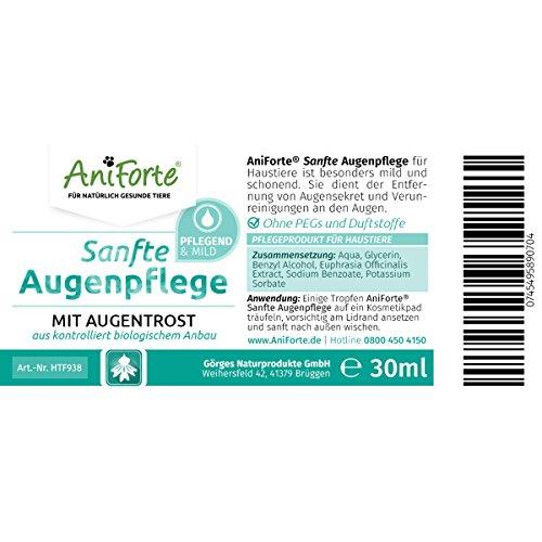 AniForte 30 ml Sanfte Augenpflege mit Augentrost Augentropfen u.a. bei trockenen Augen – Naturprodukt für Haustiere - 2