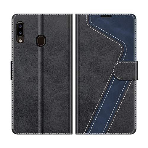 MOBESV Handyhülle für Samsung Galaxy A20e Hülle Leder, Samsung Galaxy A20e Klapphülle Handytasche Case für Samsung Galaxy A20e Handy Hüllen, Modisch Schwarz
