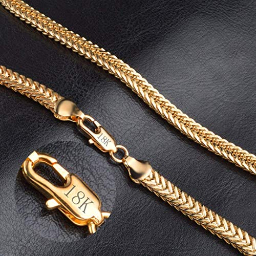 AiCheaX Vintage Cool Herren Kette Halsketten Shellhard 50cm lang DIY Gliederketten Punk Damen Schmuck Accessoires Machen