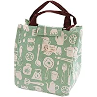 Toruiwa Bolsa de almuerzo de aislamiento Bolsas térmicas comida La bolsa de almuerzo es fácil de transportar con mango cómodo 21 * 17 * 24cm