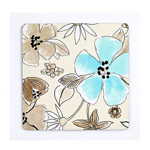 Inspire FH249234 Set of 4 Luxury Flower Garden Neutral