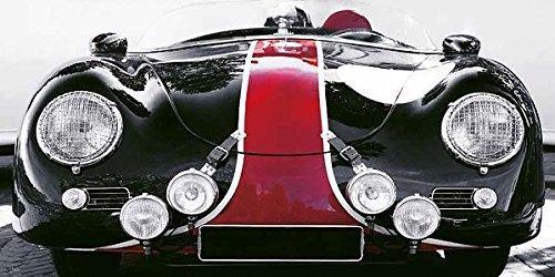 Rahmen-Kunst bastidor de cuña - Imagen - Gasolina images: ROARING BULLET Foto en lienzo Coche Deportivo Coche De Carreras PORSCHE Oldtimer VINTAGE - 80x160