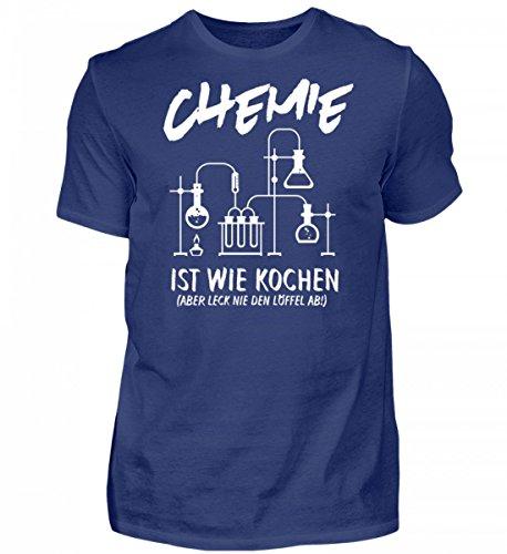 Hochwertiges Herren Organic Shirt - Chemiker Shirt · Wissenschaft · Geschenk für Chemikanten · Motiv: Chemie ist Wie Kochen