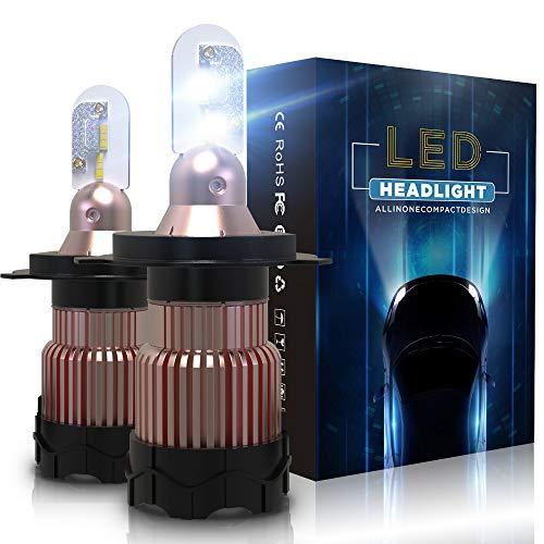 Aolead Lampadine H4 LED 10800LM Auto Fari Sostituzione per Alogena e Xenon Luci, CSP Super Luminosa Lampada 6000K - 2 Anni Garanz
