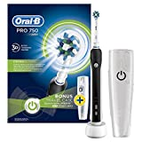 Oral-B Pro 750, Şarj Edilebilir Diş Fırçası Cross Action Siyah (Seyahat Kabı Hediyeli!)