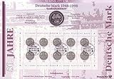 Goldhahn BRD Bund Numisblatt 3/1998 50 Jahre Deutsche Mark Briefmarken für Sammler