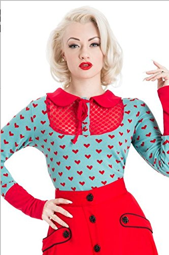 Voodoo Vixen - Big Heart Rockabilly Top L