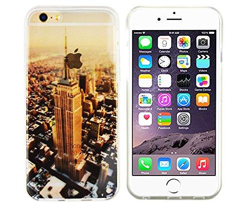 Apple iPhone SE / 5S / 5 Hülle von GaDa Schutzhülle TPU Case Cover Handyhülle kleine süße Katze Empire State