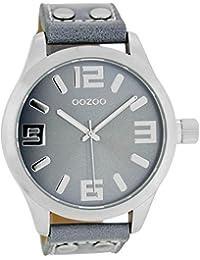 Oozoo Damenuhr mit Lederband 46 MM Graublau/Graublau C1060