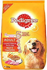 Pedigree Adult Dry Dog Food, Meat & Vegetables, 20kg