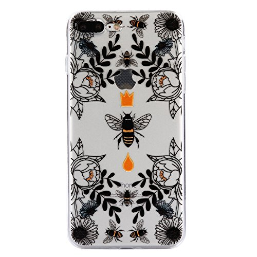 iPhone 7 Plus Hülle, Voguecase Silikon Schutzhülle / Case / Cover / Hülle / TPU Gel Skin für Apple iPhone 7 Plus/iPhone 8 Plus 5.5(Teppich 12) + Gratis Universal Eingabestift Biene