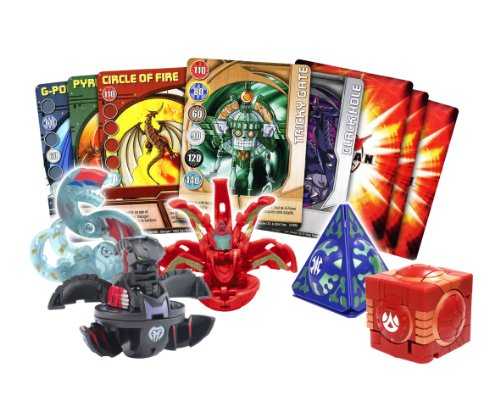 BAKUGAN 6014368 - Combat set with 3, 2 traps and 6 game cards