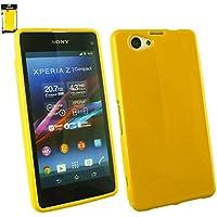 Emartbuy® Sony Xperia Z1 Compact Shiny Gloss Gel Case Hülle Schutzhülle Gelb
