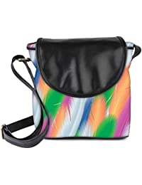 Snoogg Feathers Vector Background Womens Sling Bag Small Size Tote Bag