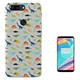 c00488 - Cool Trendy Fun Cute Dinosaur Triceratops T-Rex Prehistoric Design OnePlus 5T Fashion Trend Case Gel Rubber Silicone All Edges Protection Case Cover