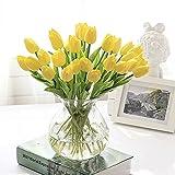 """Butterme 10 Pcs Real Touch artificiale di tulipani, in lattice, per matrimonio, motivo: bouquet di fiori finti Garden Decor Valentine s Day """", regalo di compleanno"""